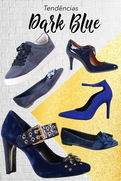 7b0b0e66c Tendências de Sapatos para o Inverno - A cor Dark Blue vem com tudo e  combina