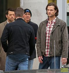 Jensen, Jared and Misha BTS