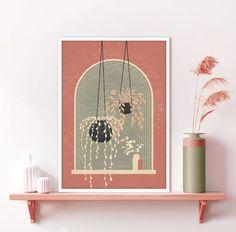 Printing Services, Online Printing, Orange Plant, Orange Wall Art, Window View, Plant Art, Canvas Wall Art, Framed Canvas, Minimalist Art