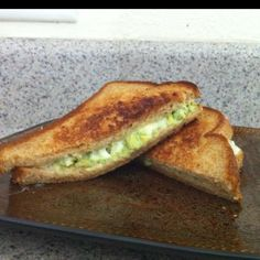 Avocado pepper jack grilled cheese Take 2 avocado's and mash them up and squeeze one lime into it. Then butter the bread, put pepper jack cheese on both sides. Then add mayo and avocado mixture. Grill as usual and enjoy! ;)