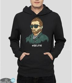 A sweatshirt showcasing the master of the (painted) selfie.