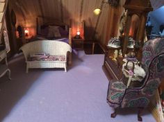 The Nanny's room of my dollhouse The Lilac by Nina Eary