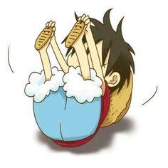 Monkey D. Luffy, cute, chibi, rolling around; One Piece One Piece Anime, One Piece 3, One Piece Photos, Sanji One Piece, Manga Anime, Anime Chibi, Anime Art, Chibi Cat, Manga Girl