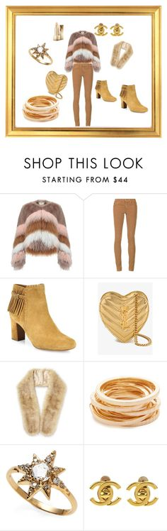 """""""new style! =)"""" by senada900 ❤ liked on Polyvore featuring Urbancode, AG Adriano Goldschmied, Tabitha Simmons, Yves Saint Laurent, Miss Selfridge, Kenneth Jay Lane, Anzie, Chanel and Burberry"""