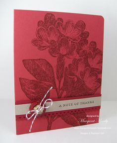 Sweet Floral, Thank You Kindly, CS: Riding Hood Red, Cherry Cobbler, Crumb Cake card stock, Ink: Cherry Cobbler, Early Espresso