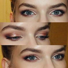 Love the shadows | click the picture to see all makeup she used #eyeshadows