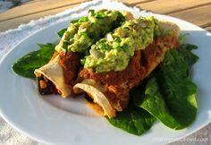 Greens and Beans Enchiladas