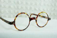 30s Glasses 1930's Round Eyeglass Tortoise Circle by THAYEReyewear, $154.00