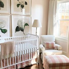 Loved finishing this precious nursery for a sweet friend yesterday! Can't wait to meet that baby girl in a few short months! Crib Wall, Guest Bed, Guest Room, Little Girl Rooms, Nursery Inspiration, Girl Nursery, Nursery Room, Nursery Decor, Kid Spaces