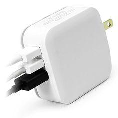 Tektalk 3.1A 3-Port USB Portable Charger Travel Adapter with Foldable AC Plug for Apple iPhone 6, 6 Plus, iPad Air, Mini, Smartphone, PSP, Tablets and More-White Tektalk http://www.amazon.com/dp/B010CIUI1U/ref=cm_sw_r_pi_dp_CDzjwb09ZB31W