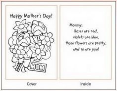Easy Printable Mothers Day Cards Ideas for Kids    Family Holiday