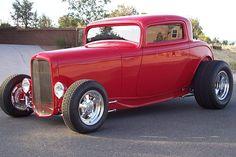 custom hot rod designs | 1932 FORD 3 WINDOW CUSTOM COUPE - 43707