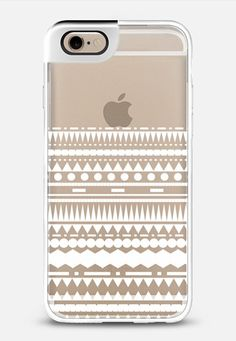 White Modern Aztec Partial Transparent iPhone 6 Metaluxe case by Organic Saturation | Casetify