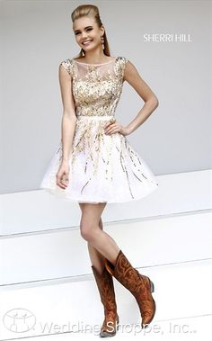 Prom Dresses Sherri Hill  21212 goin' country!!  love it tho