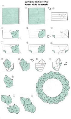 DIY Origami wreath; Pictorial.