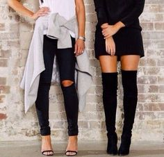 ripped jeans thigh area - Google Search