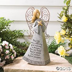 Memorial Garden Angel - love the verse on this. Angel Garden, Garden Art, Garden Ideas, Memorial Stones, Memorial Ideas, Memorial Candles, Oriental Trading, In Loving Memory, Christian Gifts