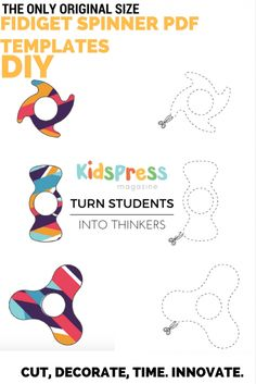 Turn the craze into INNOVATION with our instant download PDF fidget spinners templates. Only original size PDF template on Pinterest. Make your classroom and your kids into engaged thinkers! SPECIAL INVITE WITH THIS PAGE! Sign up for more activites! #fidgetspinner