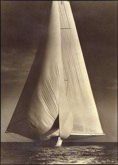 Margaret Bourke-White(American, 1904-1971)  Vanitie, International Yacht Races, Newport, Rhode Island 1934  Gelatin silver print