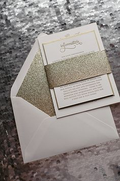 Gold Glitter wedding invitation, typography wedding invitation, letterpress wedding invitation @Landis Smithers Smithers Smithers Smithers Smithers Paige