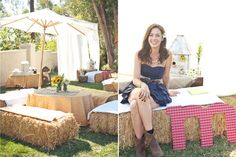 Stacey!! Country Themed Wedding Shower - I actually really like this one and it would be easy at our house