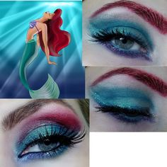 Little Mermaid inspired eyes