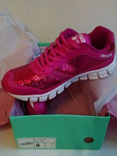 Crazy Train So Glam I Sweat Glitter Shoes Size 9, 10, 11, 12 Runs One Size Small #CrazyTrain #Tennisshoes