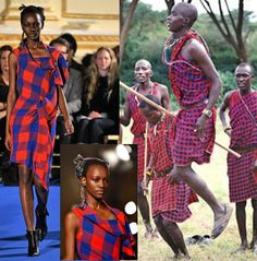 Herieth Paul in a Masai inspired look from Thakoon Fall 2011 collection