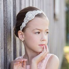Crystal Headband rhinestone baby hair band children headwear Newborn Photo Prop Wedding Headband #Affiliate