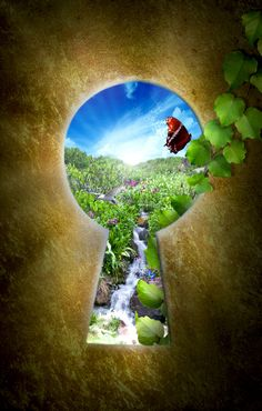 Heavens door keyhole by ForestManFx.deviantart.com on @deviantART