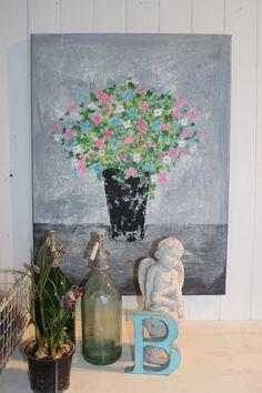 Indretning med malerier og brugskunst