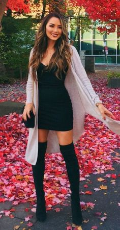 47 Stylish Winter Outfits Ideas With Heels Stylische Winteroutfits mit Heels 04 Stylish Winter Outfits, Fall Winter Outfits, Casual Winter, Winter Night Outfit, Dresses In Winter, Sexy Casual Outfits, Fall Dresses, Cute Night Outfits, Fall Outfit Ideas