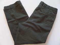 DOCKERS Men's Pants Size-36X29 Relaxed Zipper Fly Gray Very Good! #DOCKERS #CasualPants