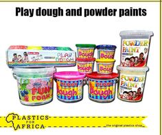 Play dough is a fun way to increase your pre-schooler's awareness of shapes, colour and learning to use their own imagination and creativity. Get this play dough and powder paints, available from your nearest store. Plastic Shop, Powder Paint, Play Dough, Ben And Jerrys Ice Cream, Imagination, Creativity, Shapes, Colour, Learning