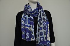 cotton silk scarf made in italy