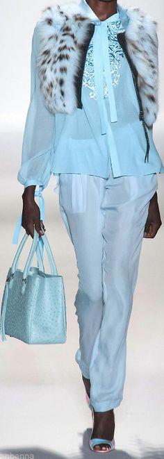 Dennis Basso Spring 2014 the color, the texture, the accessories.
