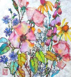 Summer Bunch by Sofia Perina-Miller.  I love this artist's watercolor florals.