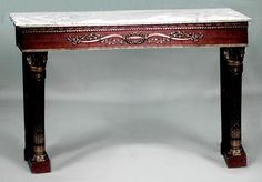 French Louis XVI table console table oak