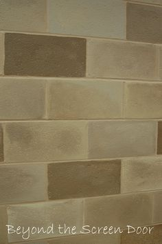 painted cinderblock basment | ... wall measures 10′ high x 47′ wide and took 11 hours to paint
