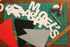 DIY Paper Bunting Banner   Neon Rattail