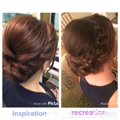 My recreation of an updo on Pinterest! #bridesmaid #hair #updo #braid