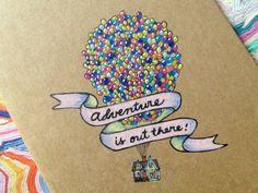 Disney Pixar UP Moleskine Pocket Notebook by clementineclay, $15.00