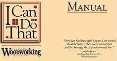 Ah! E se falando em madeira...: manual do marceneiro