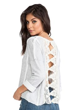 Free People Victorian Lace Pullover in Grey Heather from REVOLVEclothing $88