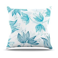 Kess InHouse Anchobee Biru Dream Indoor/Outdoor Throw Pillow - AR1009AOP0