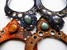 PARADOX leather necklace - custom made to order - choose your leather color & resonating stone - Urban Pirate - Nomad gypsy - Tribal pixie