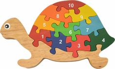 Artículos similares a Eco-Friendly Turtle Numbers Puzzle hand-crafted of wood and non-toxic paints. Teaches colors and numbers. Quilt Book, Scroll Saw Patterns Free, Puzzles For Toddlers, Teaching Colors, Woodworking Projects Diy, Woodworking Toys, Wooden Puzzles, Wood Toys, Painting For Kids
