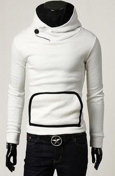 Kangaroo Pocket Sweatshirt Chaqueta Hombre, Chaqueta De Cuero, Ropa De  Hombre, Sueter Hombre 7c7d4ce428