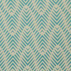 Found it at DwellStudio - Palmwood Fabric - Turquoise Fabric Birds, Ikat Fabric, Geometric Fabric, Retro Fabric, Contemporary Fabric, Textile Patterns, Print Patterns, Textiles, Backgrounds