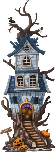 Halloween House - Happy Street Wiki Fantasy Castle, Fantasy House, Environment Concept Art, Environment Design, Prop Design, Game Design, Cartoon House, 2d Game Art, House Illustration